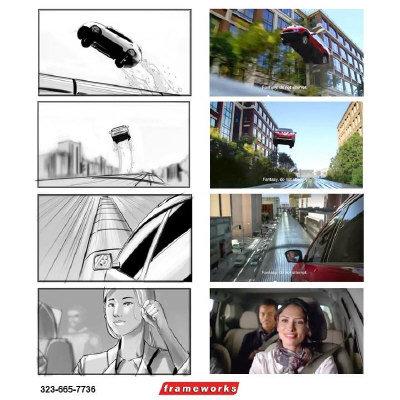 李威作品2014年林肯汽车分镜图,被拍成广告 赶时间篇 在超高清图片