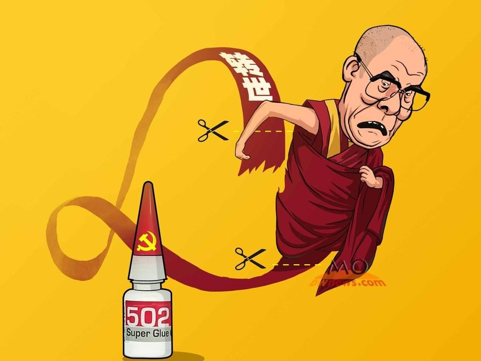 盛怒之下破口大骂 求达赖喇嘛心理阴影面积