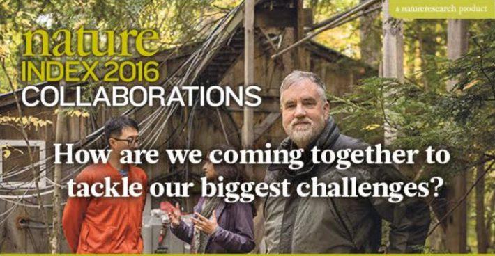 《自然》发布全球科研Index 2016 Collaborations 中科院位列第四