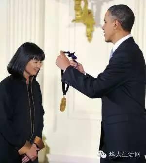 感动了美国和奥巴马 林璎获得自由勋章