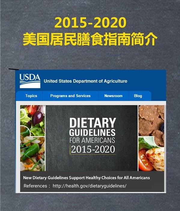 美国农业部2016年发布最新膳食指南