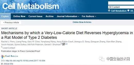 耶鲁大学:每日500卡路里的极低热量饮食能够快速逆转2型糖尿病