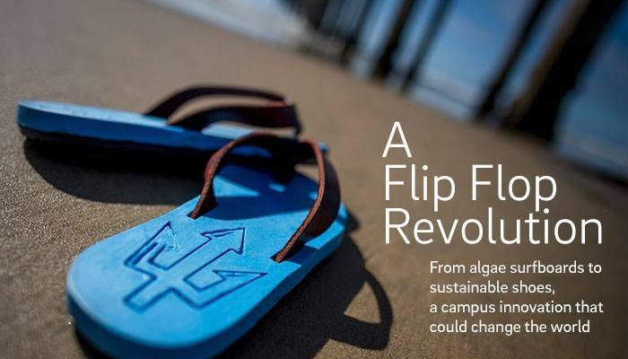 加大圣地亚哥分校发明出世界上第一双革命性海藻拖鞋