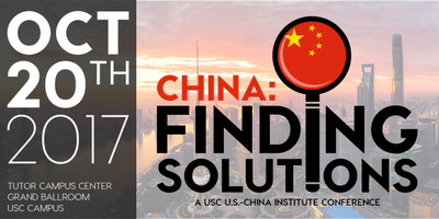 :China:Finding Solutions conference at USC(10/20)