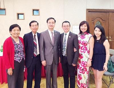 中国驻洛杉矶总领馆举行王雷副总领事、代双明副总领事离到任招待会