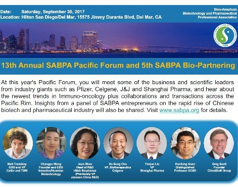 13th SABPA Pacific Forum (San Diego 9/30)