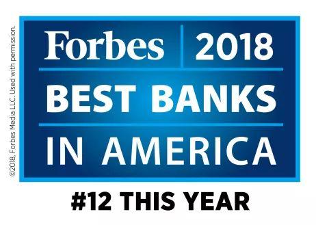 国泰银行Cathay Bank在2018福布斯美国银行百强排名位列12