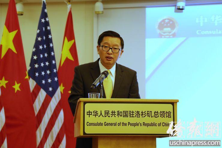 中国驻洛杉矶总领馆介绍签证服务的改善情况