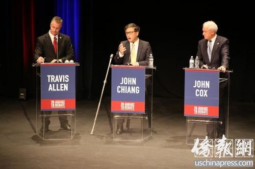 加州州长竞选辩论 江俊辉:为移民权益而战  让每个加州人都能上大学