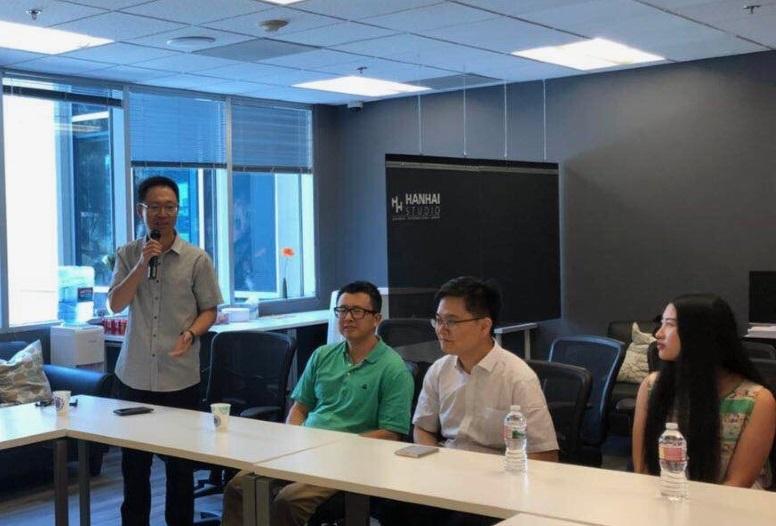 美西南地区华裔教授专家聚会欢送科技领事刘华和欢迎张斌领事