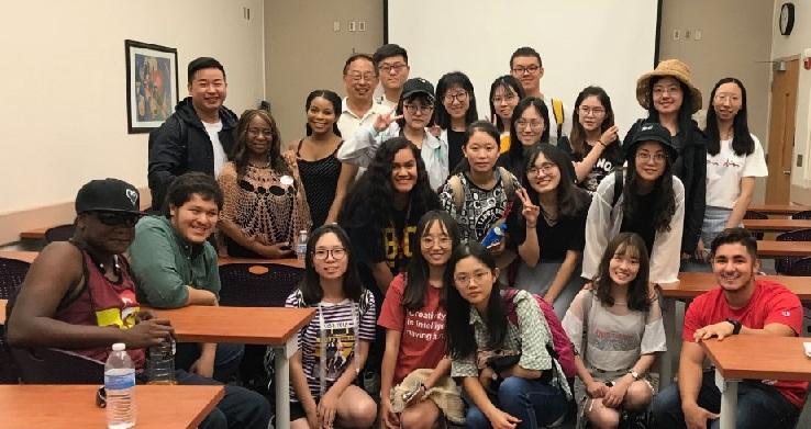 美国华裔教授专家网和Barstow ASG接待海南大学、南京林业大学师生