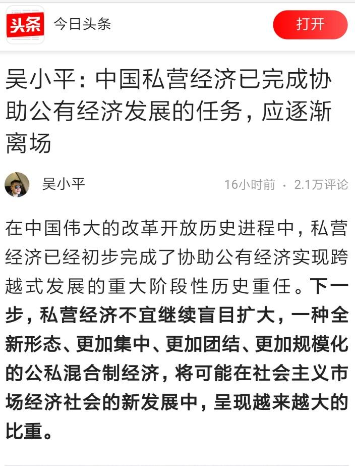 """众私营巨头风波不断 中国频传""""私营经济离场论"""""""
