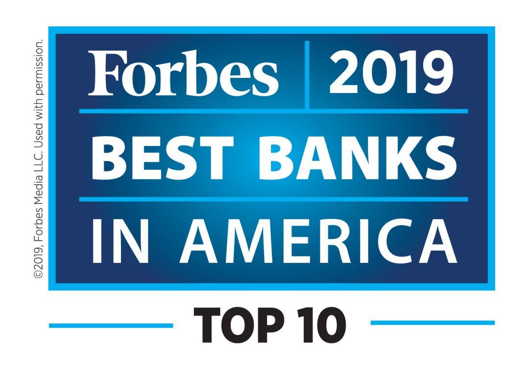 国泰银行:《福布斯》全美最佳银行排名第10!