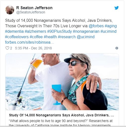 UCI:高于正常体重10%-15%,喝喝小酒更健康