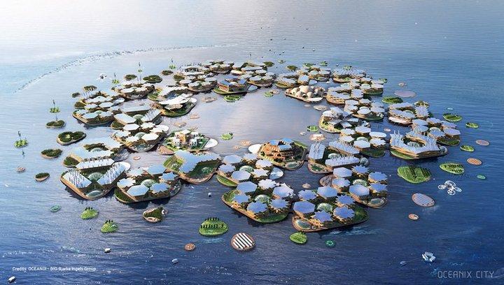 """MIT & BIG 将联合打造""""漂浮城市""""- 具备可持续人造生态系统"""