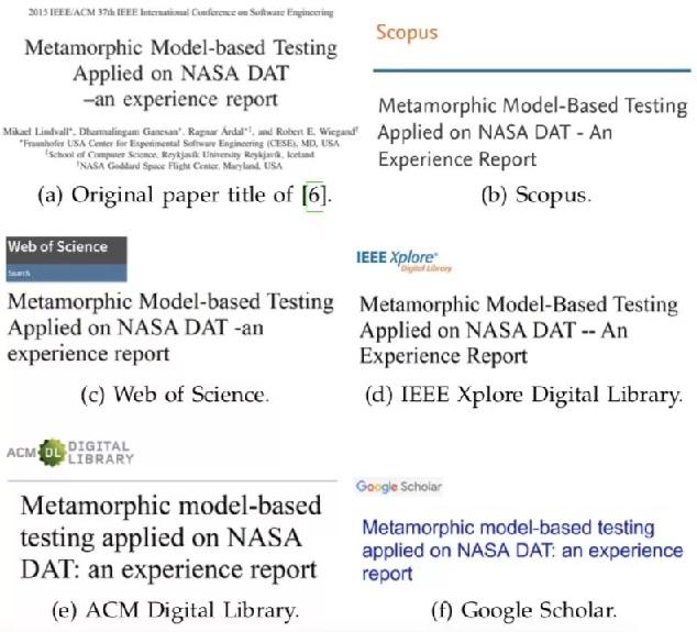全球两大引文数据库Scopus & Web of Science 存在系统缺陷