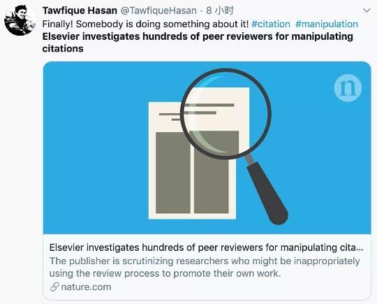 """学术出版巨头Elsevier 彻查433名审稿人""""强迫引用""""黑幕"""